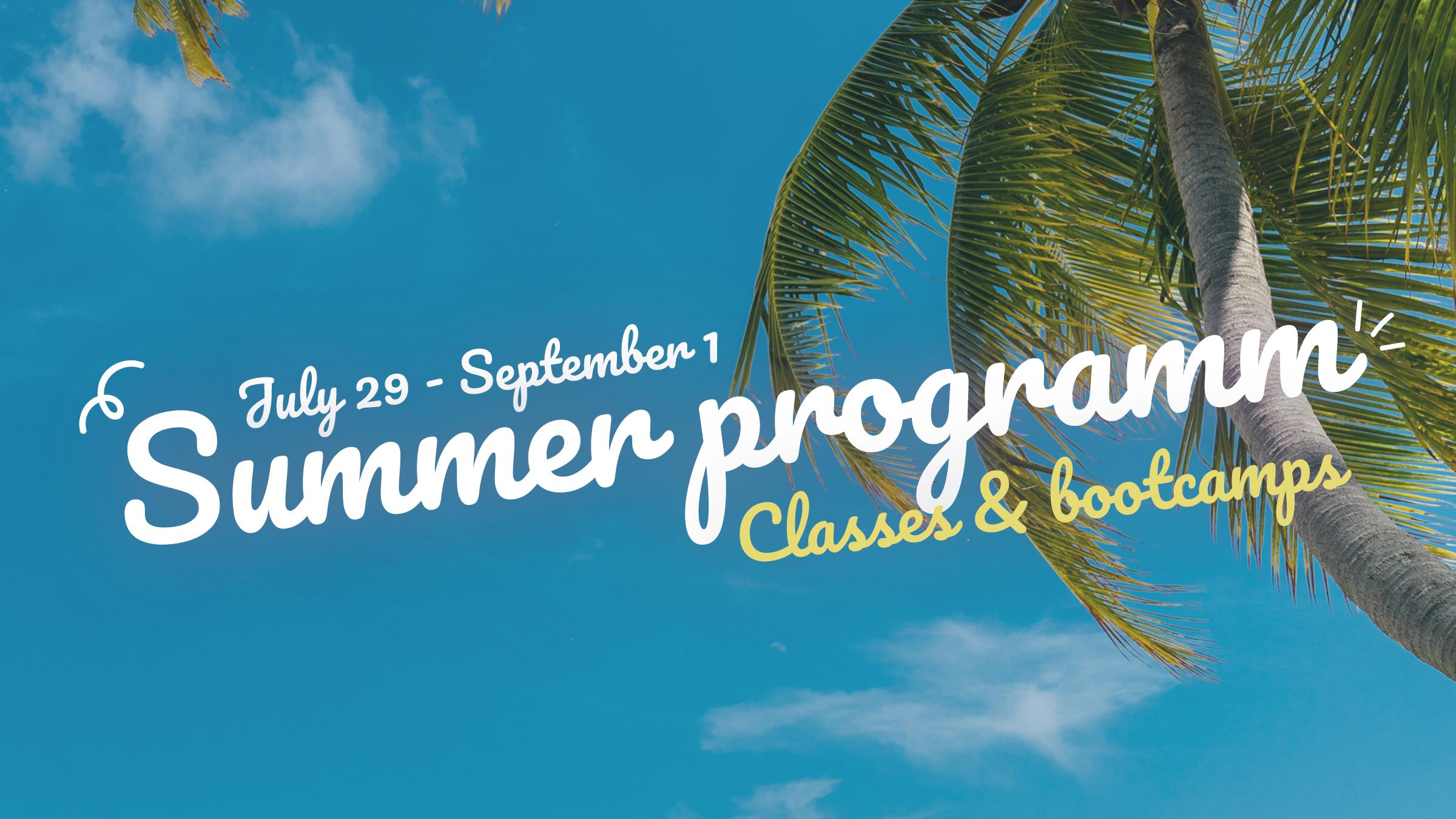 Ons zomerprogramma