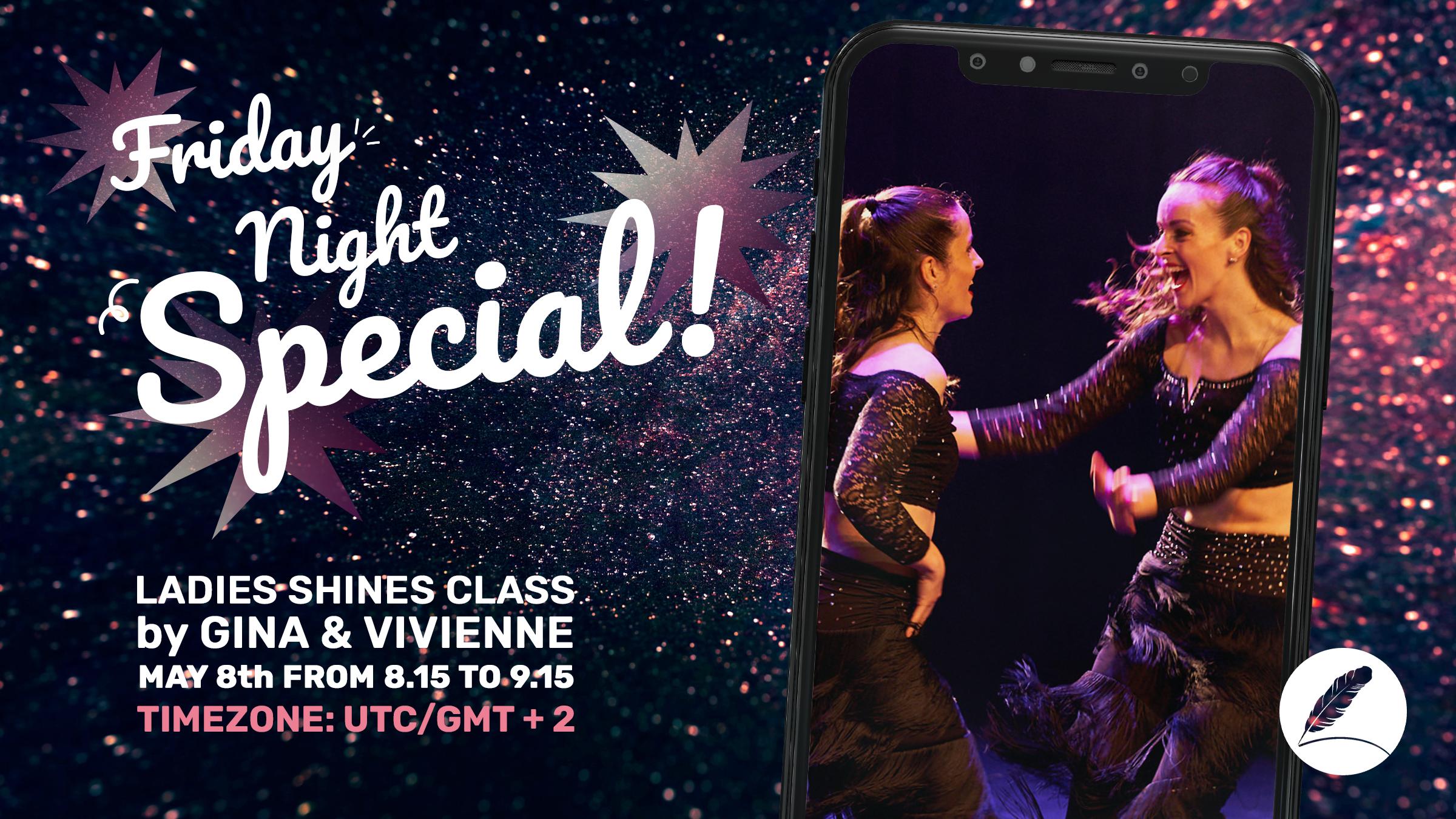 Online Salsa Ladies Shines Class door Gina & Vivienne